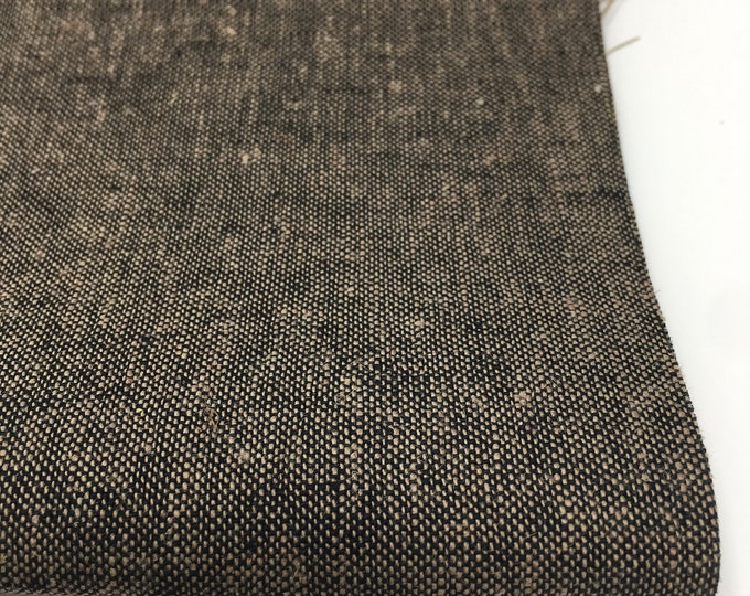 Linen Fabric, Essex Linen, Linen Blend fabric, Essex Yarn Dyed, Apparel Fabric, Denim Dress fabric, Yarn Dyed fabric, Essex in Espresso