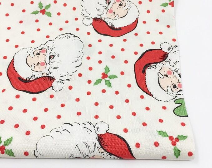 Christmas Fabric, Vintage Santa, Christmas Quilt, Quilting bundle, Vintage Quilt, Swell Christmas Fabric, Swell Santa Cream, Choose the Cut