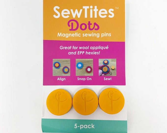 Sewtites magnetic pins for english paper piecing, wool applique or sewing and quilting 3 circles magnetic pins
