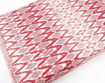 SALE fabric, red cotton fabric by the yard, Yardage for Quilting or Sewing, Discount fabric