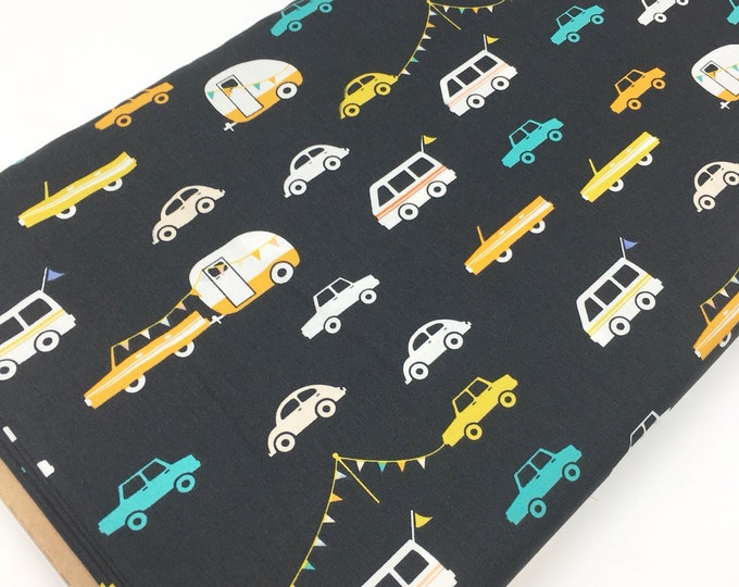 DayTrip fabric, Kids or Baby quilt, Camper, Car, Cactus Party Wedding,  Art Gallery fabric, Joyride in Night, You Choose the Cut