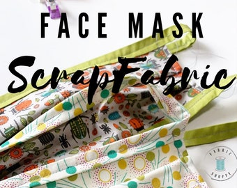 FACE MASK fabric, Homemade Face Masks Scrap fabrics, Pack of Cotton Fabric perfect to make Homemade Face Masks, Free flannel. Free Shipping!