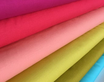 Kona Solid Bundle in Bright, Quilting Solids, Valentine, Watermelon, Creamsicle, Pickle, Wasabi and Capri, Bundle of 6, Choose the Cuts