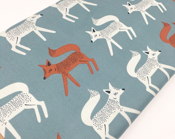 Campsite fabric, Kids or Baby quilt, Fox Fabric, Feather, Tent, Deer, Smores, Art Gallery fabric, Sneaky Little Foxes, You Choose the Cut