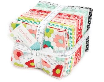 Retro Fabric Style, Handmade ENTIRE LINE Precut fabric, Cotton fabric, Bonnie and Camille for Moda Fabrics- Fat Quarter Bundle of 40