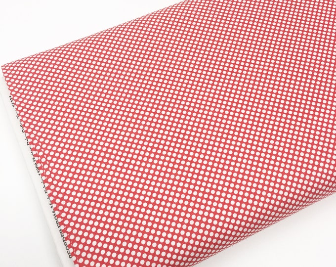 Christmas Fabric, Vintage Holiday fabric by Thimble blossoms, Christmas Quilts, Holiday Dots in Red, choose the cut
