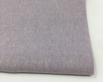 Cotton Linen Blend Fabric, Lilac purple Essex Yarn Dyed for quilts, pillow covers or napkins, by Robert Kaufman