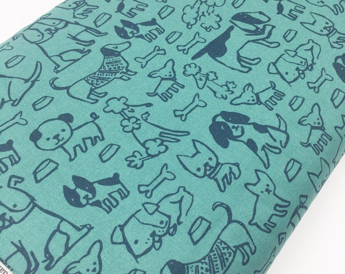 SALE fabric, Pet Gift, Dog Fabric, Gift for Dog lover, Yardage, Quilting fabric, Sewing fabric, Gift for her, Discount fabric, Cotton fabric