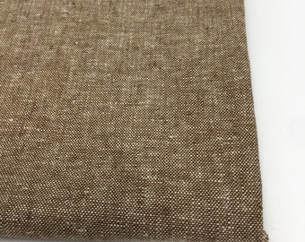 Essex Linen, Linen Blend fabric, Essex Yarn Dyed, Apparel Fabric, Denim Dress fabric, Yarn Dyed fabric, Linen fabric, Essex in Nutmeg