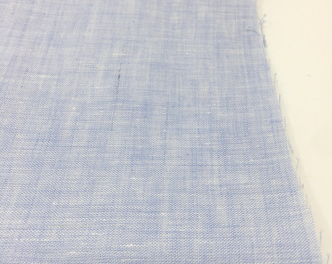Soft Linen Fabric, 100 % Natural Linen Fabric by the Yard, Limerick Linen in Blue by Robert Kaufman