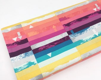 SALE fabric, rainbow cotton fabric by the yard, Yardage, Quilting Sewing fabric, Gift for her, Discount fabric, Cotton fabric