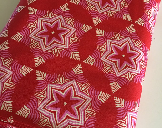 Hello Love, Bright Fabric, Woodland Quilt fabric, Pink Decor, Baby Quilt fabric, Heather Bailey Guru in Red, Choose your cut