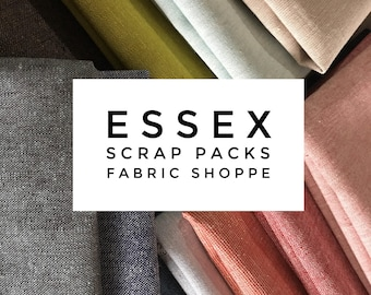 SALE Linen Fabric Essex Scrap Fabric, Linen Fabric Scraps, Fabric Shoppe fabrics best seller! 1/2 LB scraps