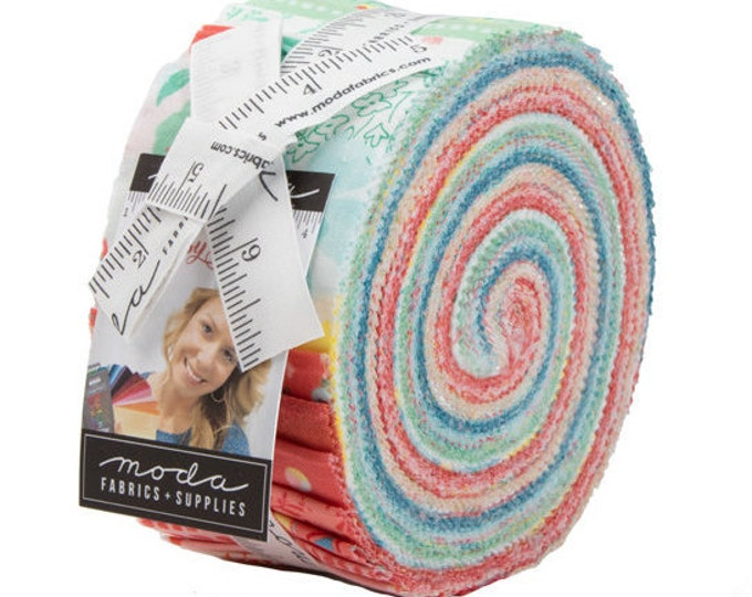 "Jelly Roll Precut Fabric by Moda, Gypsy Soul by Basic Grey Fabrics, 100% cotton, 2.5"" strips for quilting, sewing, quilt binding"