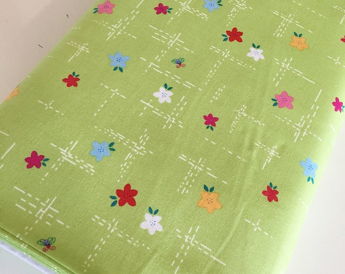Fabric by the Yard, Simply Happy Words Fabric, Cute Fabric, Girl Quilt Fabric, Simply Meadow Green, choose the cut
