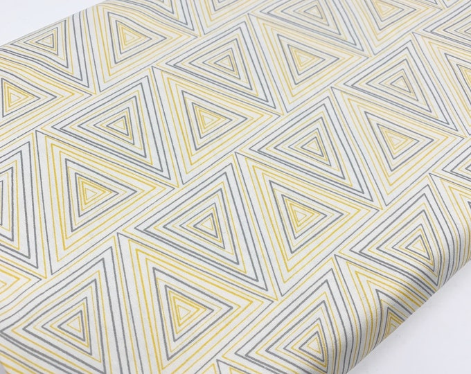 SALE fabric, yellow cotton fabric by the yard, Yardage for Quilting or Sewing, Discount fabric