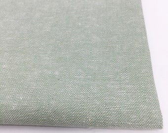 Essex Linen Classic Yarn Dyed, Linen Blend fabric,  Apparel Fabric, Dress fabric, Purse fabric, Essex Yarn Dyed Seafoam