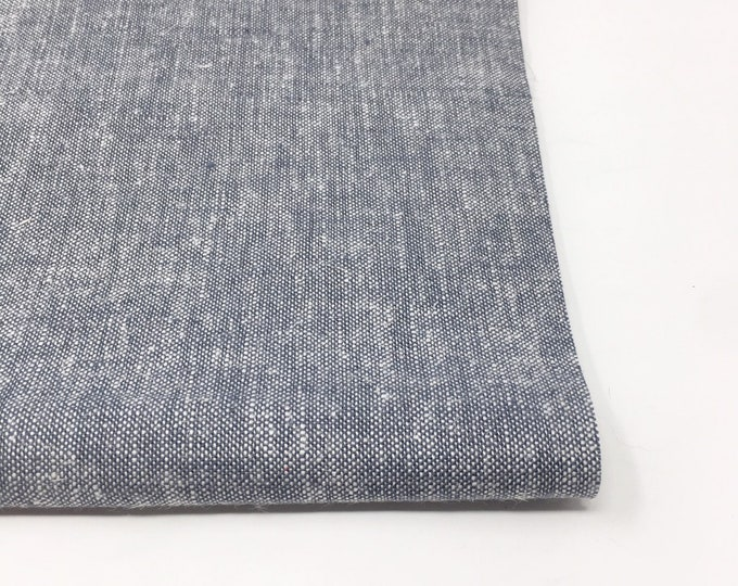 Brussels Washer Yarn Dyed Grey Linen, Soft Linen Blend fabric for clothing to napkins to pillow covers, Brussels Yarn Dyed in Grey