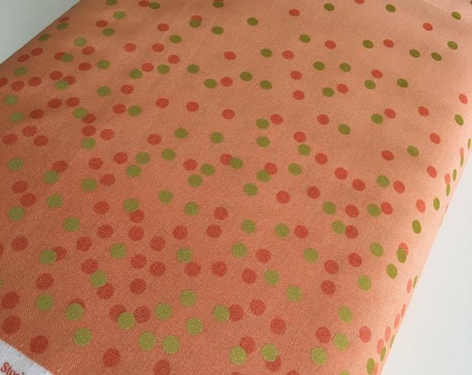 Ombre Confetti fabric by Vanessa Christenson, Gold Metallic Decor, Wedding fabric, Quilting, Ombre Confetti in Coral, Choose The Cut
