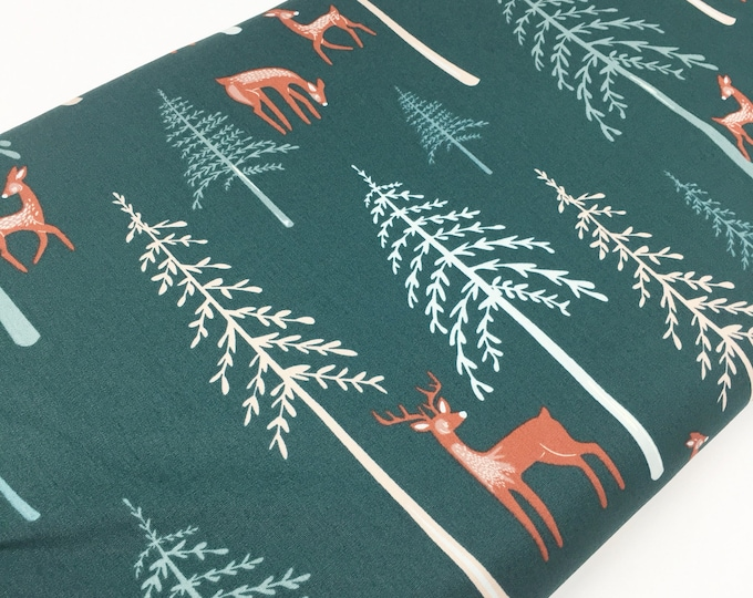 Campsite fabric, Kids or Baby quilt, Feather, Tent, Deer, Firefly, Smores, Art Gallery fabric, Among the Pines, You Choose the Cut