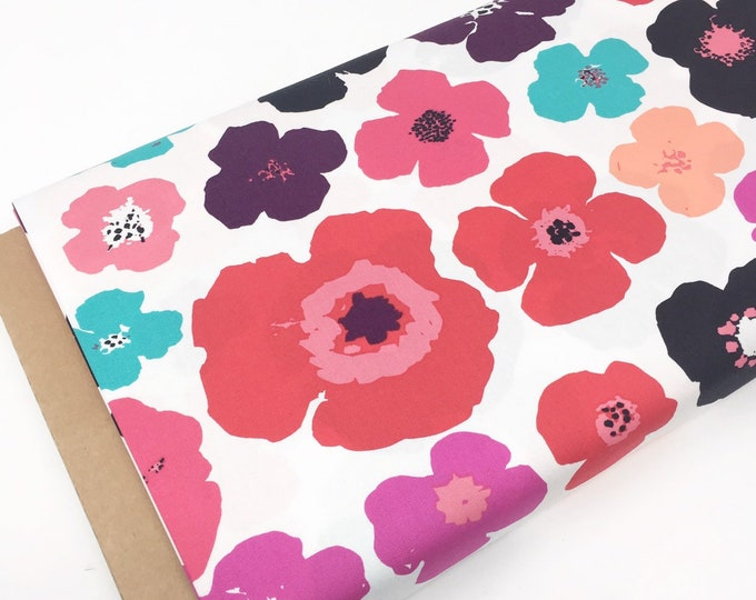 SALE fabric, pink floral cotton fabric by the yard, Yardage for Quilting or Sewing, Discount fabric