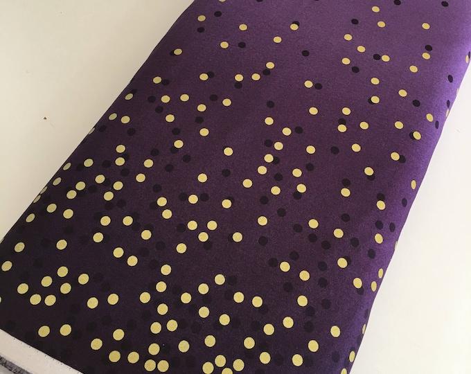 Ombre Confetti fabric by Vanessa Christenson, Gold Metallic Decor, Wedding fabric, Quilting, Ombre Confetti in Aubergine, Choose The Cut