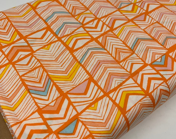 SALE fabric, orange cotton fabric by the yard, Yardage for Quilting or Sewing, Discount fabric