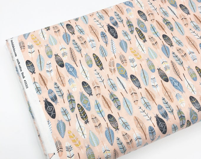 Wild and Free fabric, Cute animal, Tee Pee, Clouds, Nursery, Baby fabric, Boy Girl, Woodland, Choose the cuts