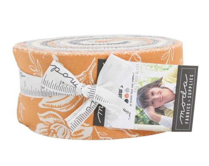 "Halloween Fabric, Jelly Roll Precut Fabric by Moda, All Hallows Eve, 100% cotton, 2.5"" strips for quilting, sewing, quilt binding"