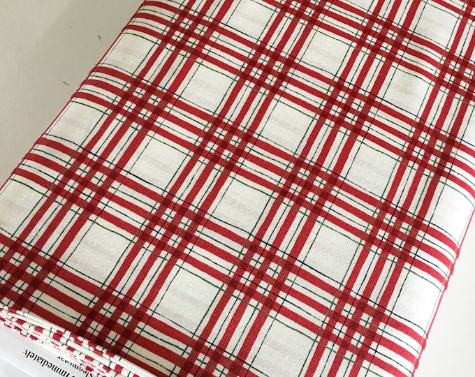 Christmas Fabric, Hearthside Holiday fabric by Moda Fabrics, Christmas Quilts, Hearthside Holiday Plaid Red , choose the cut