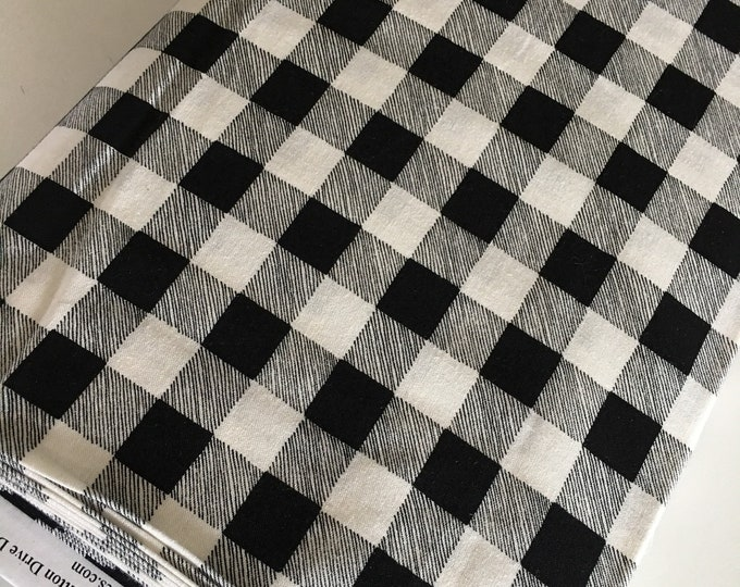 Christmas Fabric, Hearthside Holiday fabric by Moda Fabrics, Christmas Quilts, Hearthside Holiday Buffalo Plaid Black, choose the cut
