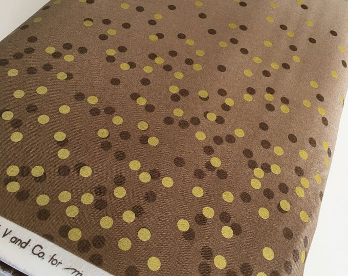 Ombre Confetti fabric by Vanessa Christenson, Gold Metallic Decor, Wedding fabric, Quilting, Ombre Confetti in Taupe, Choose The Cut