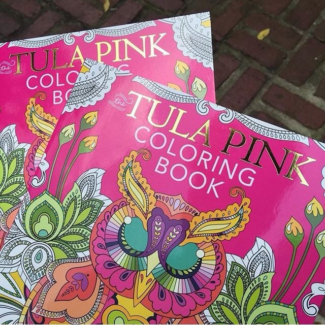 50 off sale adult coloring book christmas gift grown up coloring book tula pink coloring book fabric shoppe sale