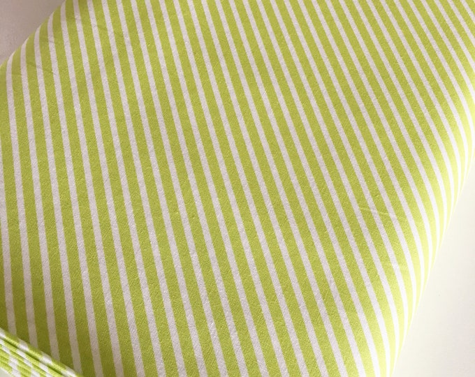 Christmas Fabric, Vintage Holiday fabric by Thimble blossoms, Christmas Quilts, Holiday Stripe in green, choose the cut