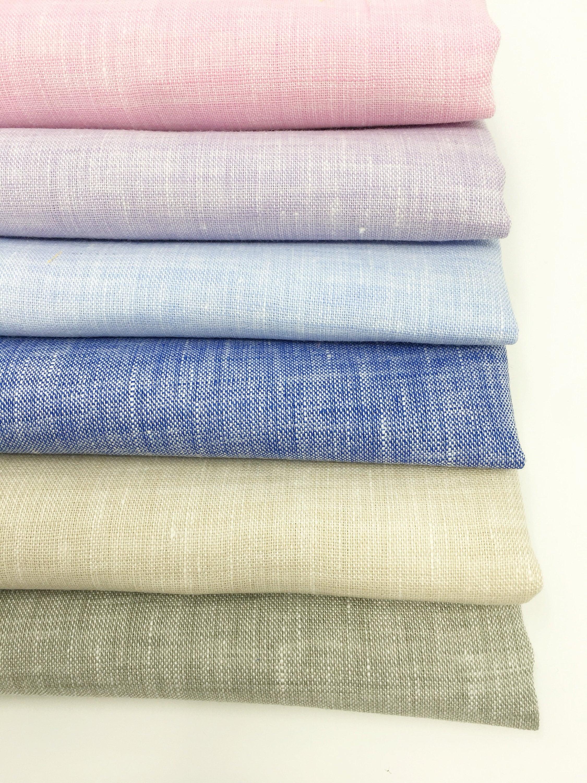 Linen Fabric, 100 % Natural Linen Fabric, Linen by the Yard