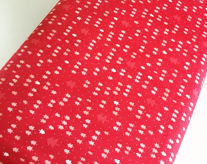 Christmas Fabric, Vintage Holiday fabric by Thimble blossoms, Christmas Quilts, Holiday Mini Trees in Red, choose the cut