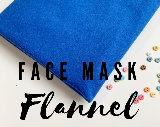 Flannel for Homemade Face Mask Fabric, 100% cotton, Robert Kaufman Flannel, perfect for your Face Mask Project