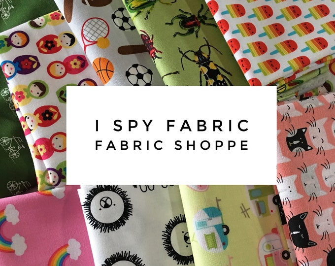 I Spy Scrap Fabric, I Spy Quilt, Novelty Fabric, Quilting bundle, Fabric Shoppe, Best Seller! 1/2 LB scraps!