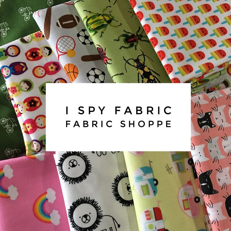 I Spy Scrap Fabric I Spy Quilt Novelty Fabric Quilting Etsy