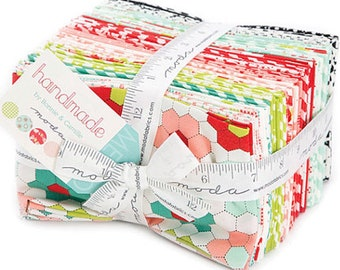 Quilt Fabric bundle, Fat Eigths of the Handmade collection, Bonnie and Camille, Precuts of Entire Line, Quilt fabrics