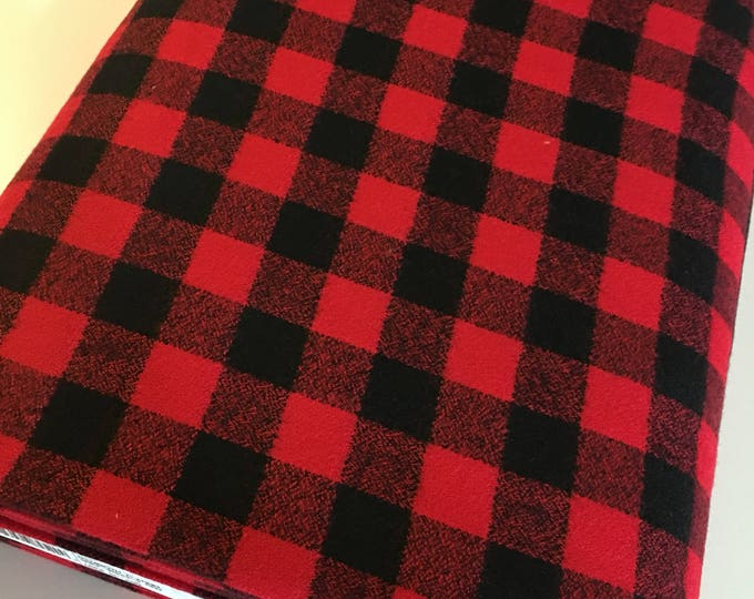 Buffalo Plaid, Red Plaid, Mammoth Plaid Flannel, Lumberjack Party Flannel, Plaid Scarf fabric, 3/4 inch check, Mammoth Flannel in red