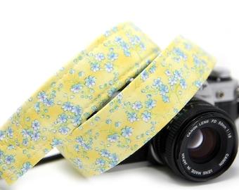 Floral Camera Strap, Yellow Camera Strap, Baby blues