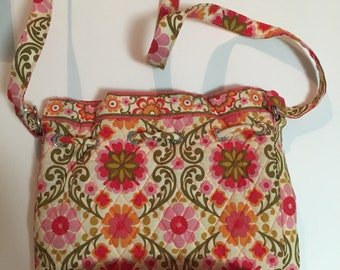 387d24efe3 Vintage Vera Bradley Quick Draw Folkloric Shoulder Bag Retired Pattern