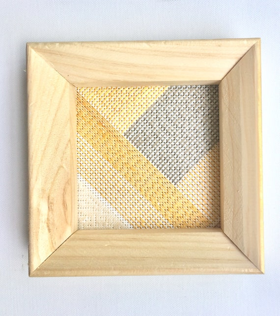 Framed fiber art. Fiber wall art. Minimalist wall decor. | Etsy