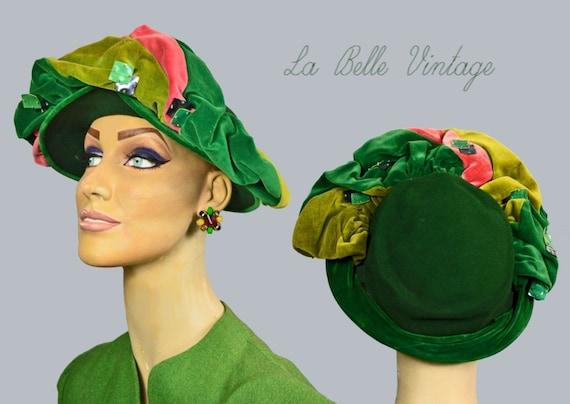 Frances & Walter Nelkin 40s Profile Hat Vintage Je