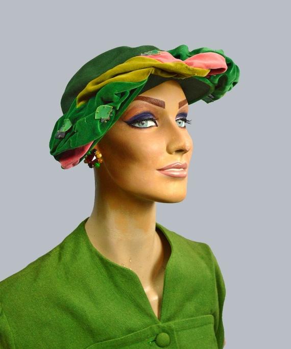 Frances & Walter Nelkin 40s Profile Hat Vintage J… - image 3