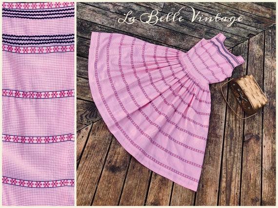 Hal-Mar 1950s Cotton Gingham Dress S Vintage Pink
