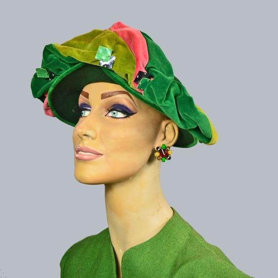 Frances & Walter Nelkin 40s Profile Hat Vintage J… - image 2