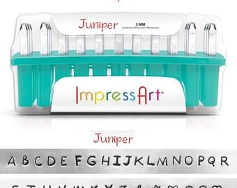 8d31aedd34739 JUNIPER - UPPERcase Handwriting font - Steel Letter Stamps - 1 8