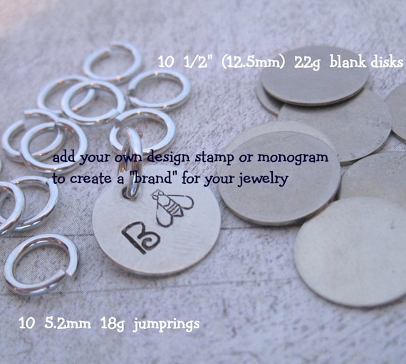 20 Piece JEWELRY TAG KIT Nickel Silver Put A Brand On Your